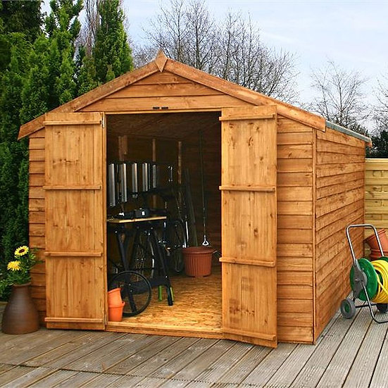 12x8 Apex Overlap Shed - Windowless