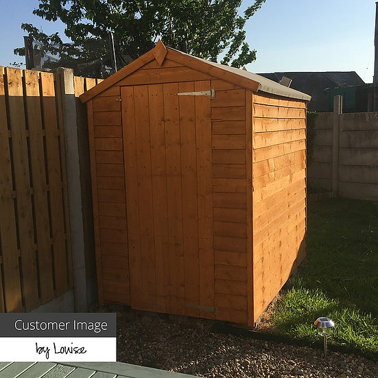 7x5 Apex Overlap Shed - Windowless