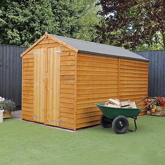 10x6 Apex Overlap Shed - Windowless