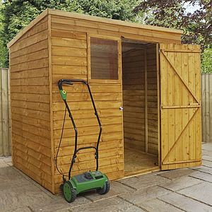 7x5 Pent Overlap Shed