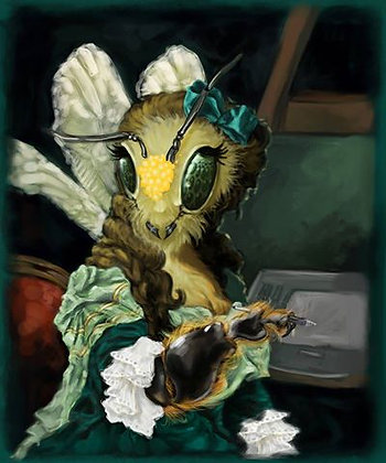 """Anjeanette Illustration """"Bee Capet"""""""