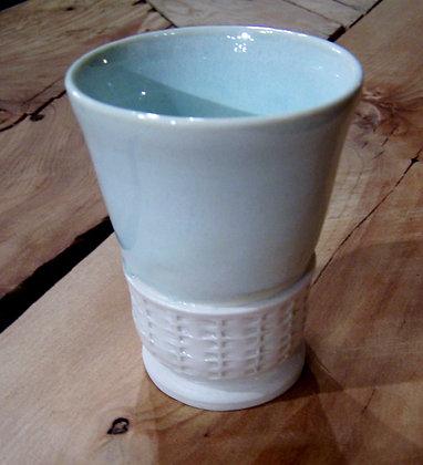 Vessel - Textured Cream/Green Glaze