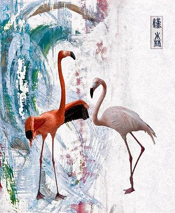 "Eric L Hansen ""Two Flamingos"""