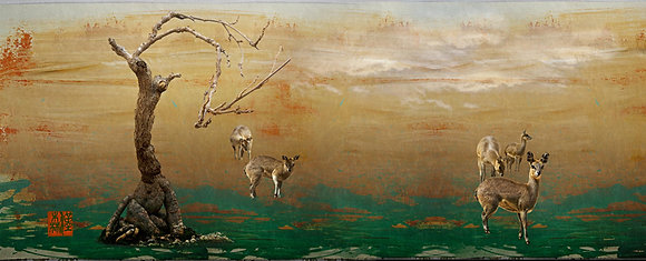 "Eric L Hansen ""Deer in Green Field"""