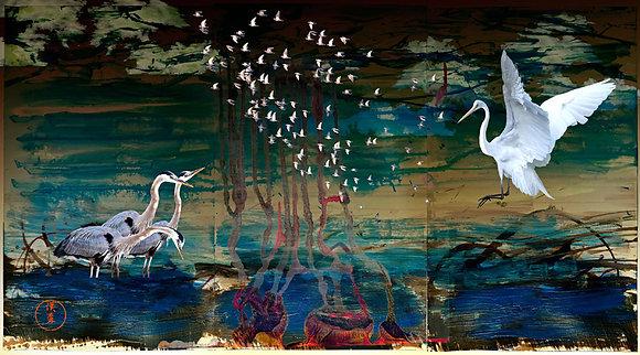"""Eric L Hansen """"White Birds Triptych"""""""