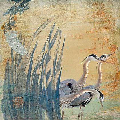"Eric L Hansen ""Herons in Flowers"""