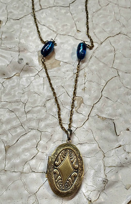 Elemental NRG Necklace - Blue Blaze Locket