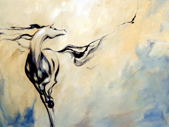"""Dina D'Argo """"Horse Calling Crow"""""""