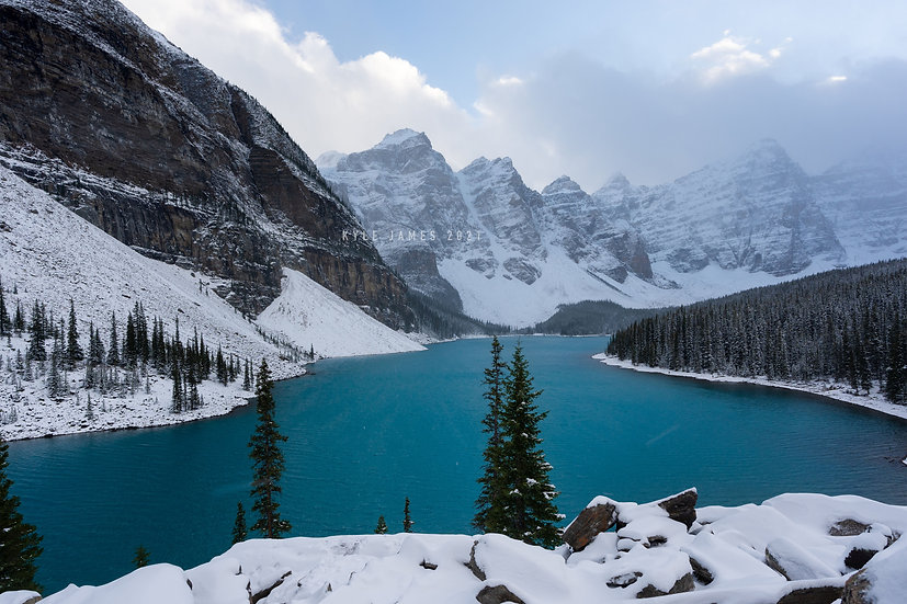Moraine Lake - First Day of Winter