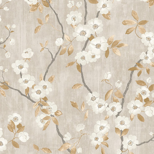 CASADECO - DELICACY - SPRING FLOWER TAUPE/NOIR 85392327