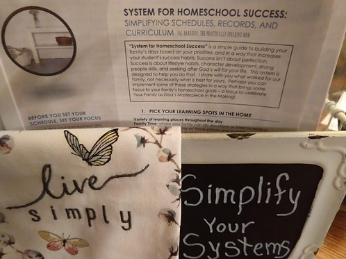 Simple Systems for Homeschool Success