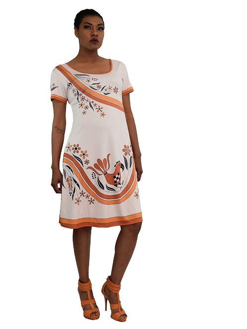 ACONAV RTW 2002 Parrot Print Summer Dress