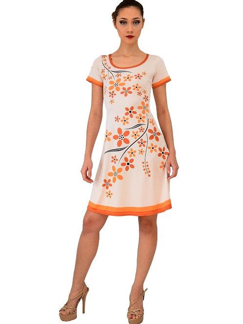 ACONAV RTW 2000 Floral Print Summer Dress