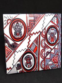 SouthEast Spiders image sublimated onto a decorative, ceramic tile