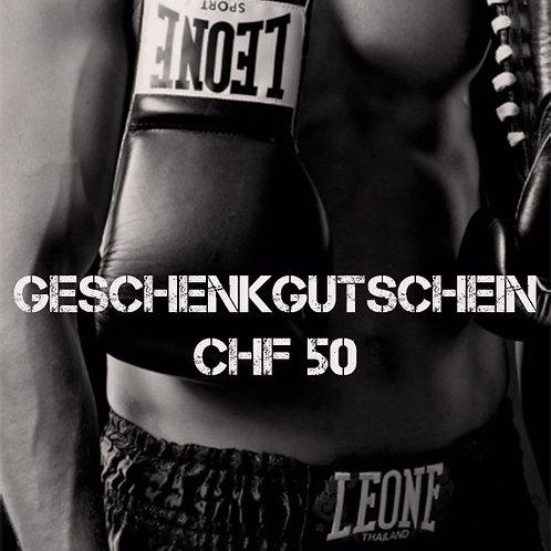 Geschenkgutschein CHF 50