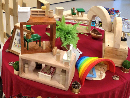 """Designing a """"new space"""" with loose parts - Logan Preschool 2"""