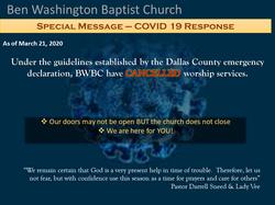 BWBC Covid19 update