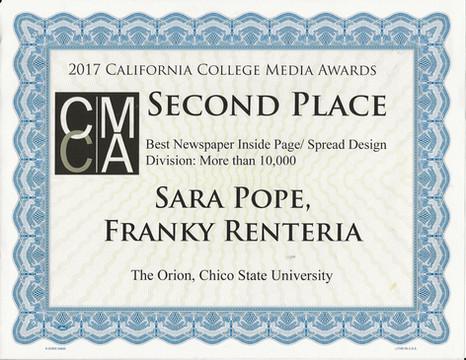 California College Media Award