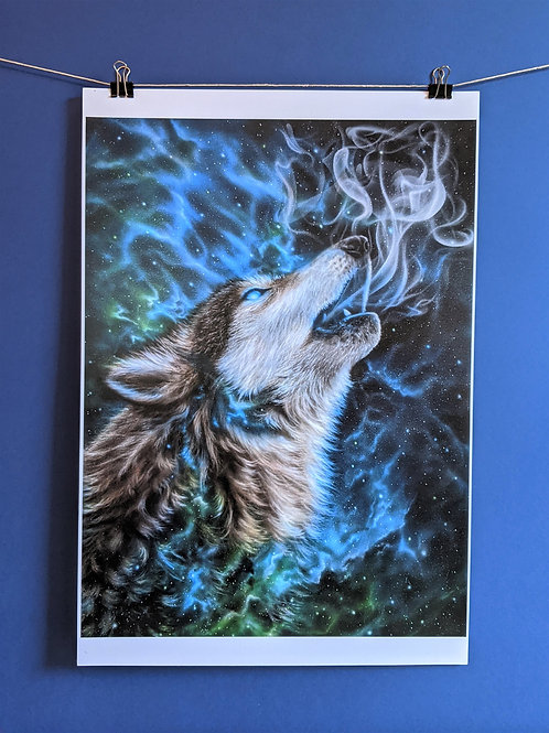 'Spirit Wolf' - Print (13x19)