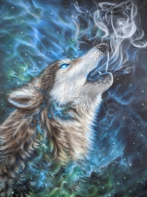'Spirit Wolf' - Original Painting