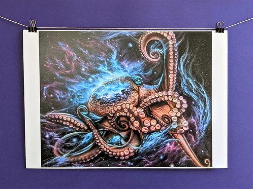 'Spirit Octopus' - Print (13x19)