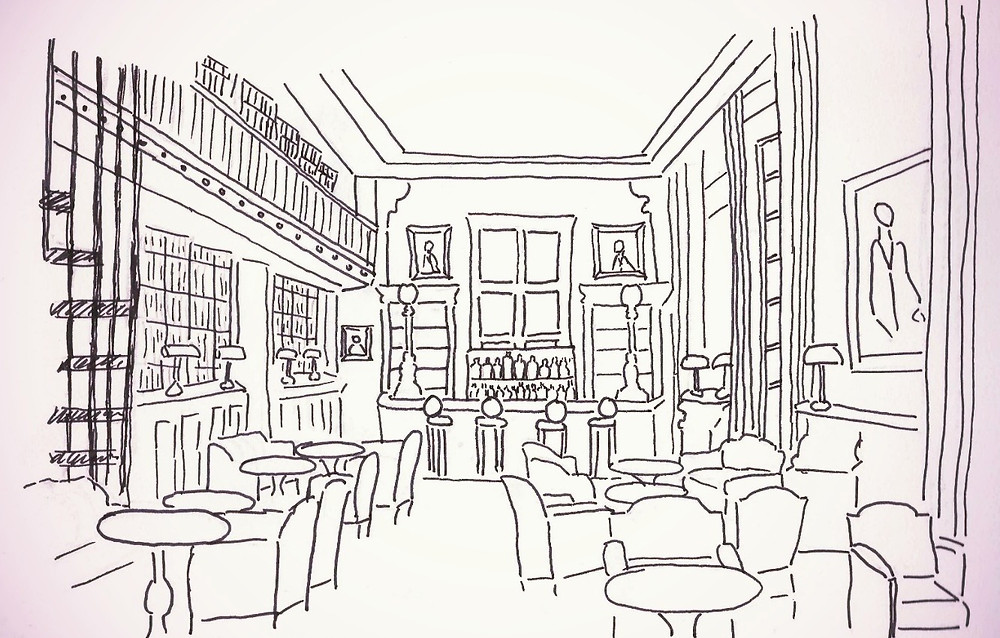 Le Bar Bibliothèque du Saint James Paris - Les Carnets du Lapin Blanc