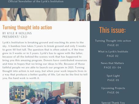 Lyrik's Institution's News Letter: The Voice