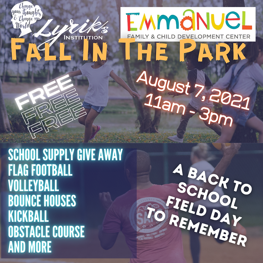 Fall In The Park: A Back to School Field Day