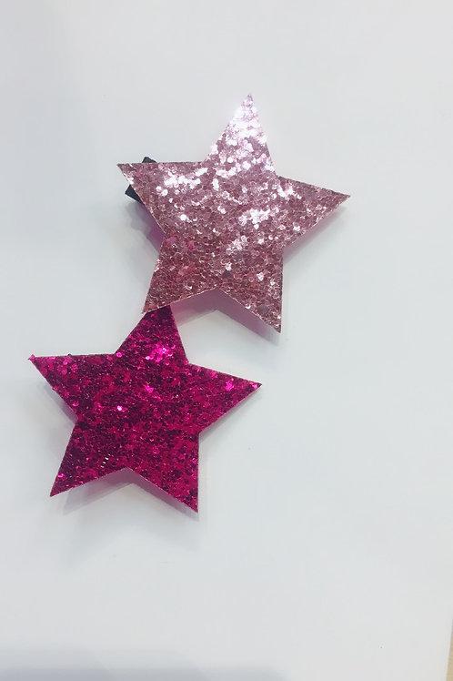 HAIR SLIDES - SPARKLY STARS