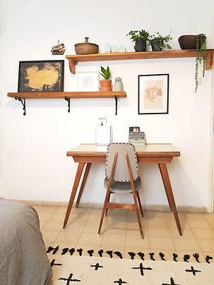 עיצוב פינת עבודה בדירת שותפים