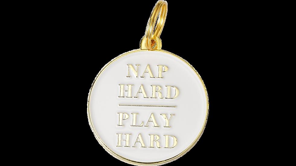 Pet ID Tag - Nap Hard, Play Hard