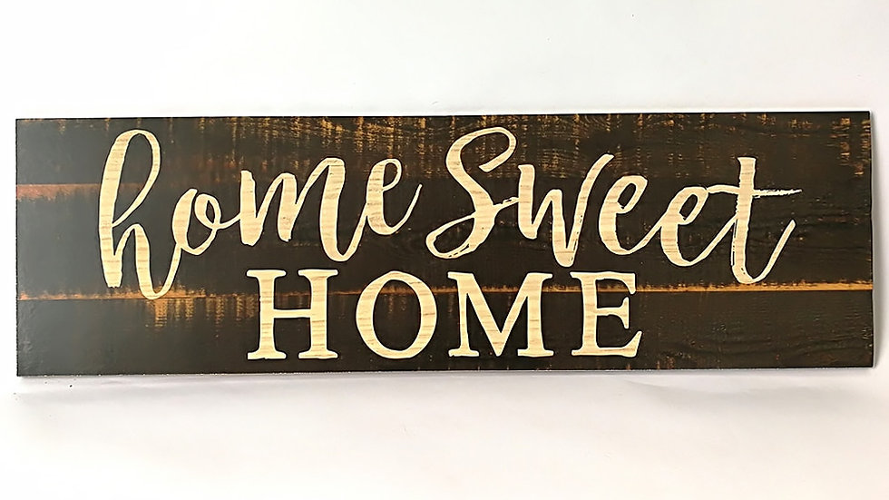 """Rustic Primitive Wood Sign """"Home Sweet Home"""" Country Farmhouse Home Decoration"""