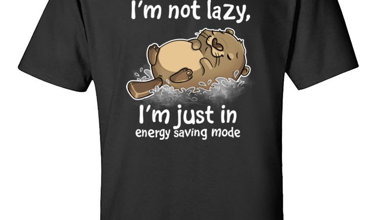Energy Saving Mode Otter Tops T Shirt Classic