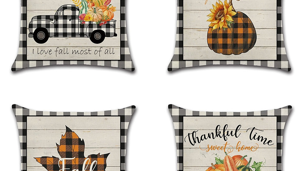 Thanksgiving Day Pumpkin Truck Harvest Decor