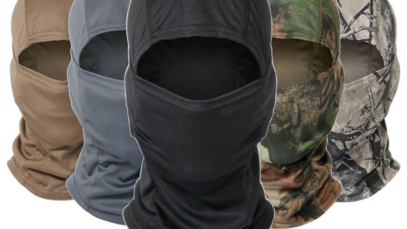 Camouflage Caps Full Cover Shield Face Scarf Men