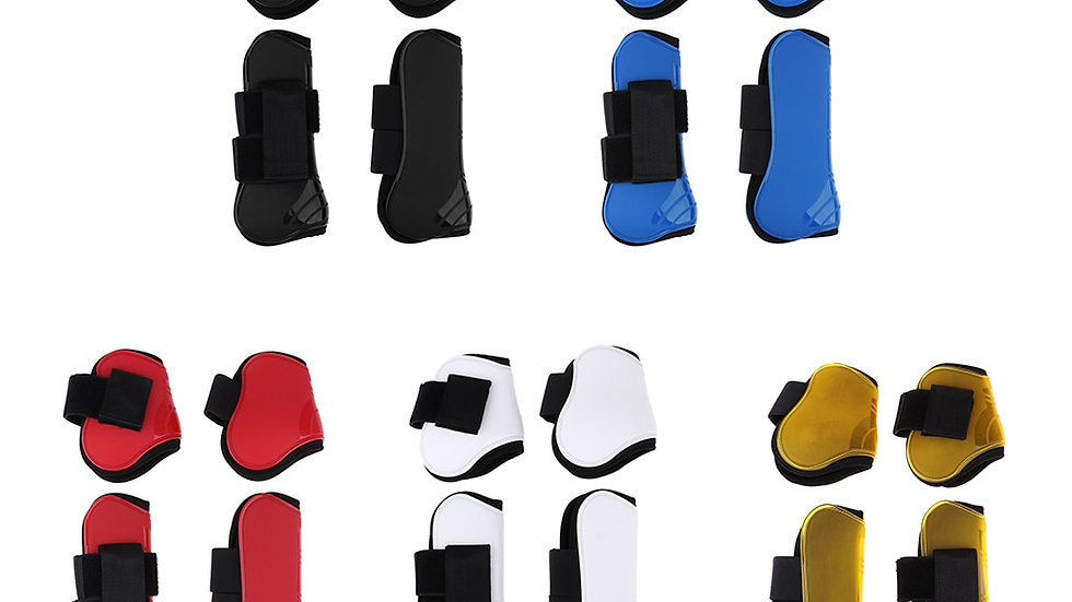 2 Pairs Horse Leg Boots Front Hind Leg Tendon Protect Equestrian Training