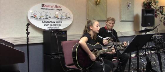 Kira playing Hallelujah
