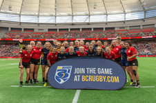 U18Girls at HSBC Rugby 7s in Vancouver