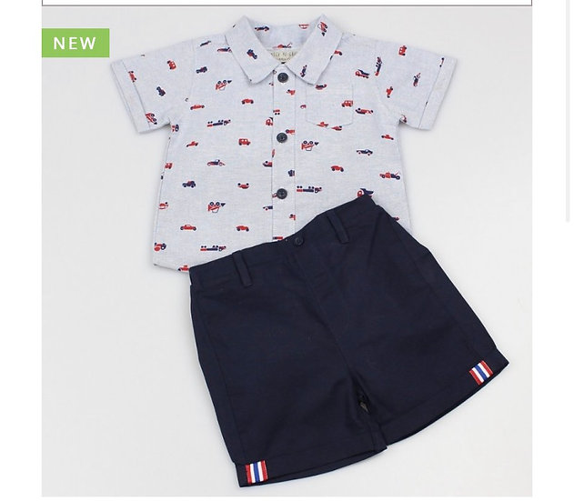 Bobby shirt and shorts set