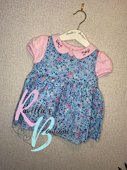 Paisley pinafore dress