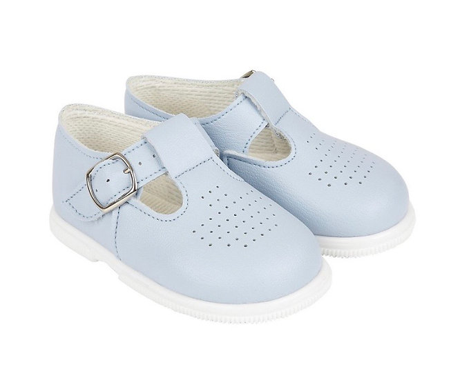 Unisex walking shoes (with soles) - baby blue