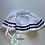 Thumbnail: Nautical full circle skirt navy and white