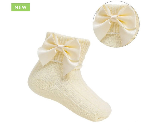 Lemon ankle socks with bow