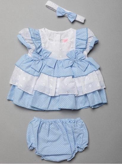 Brodie dress set - blue