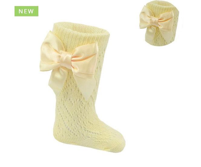 Lemon pelerine socks with bow