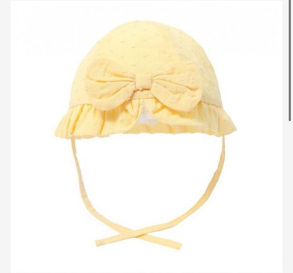 Lemon hat with bow