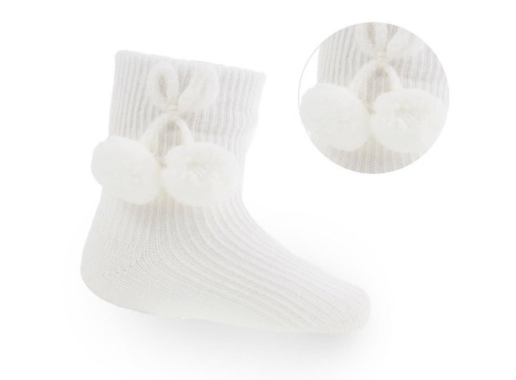 Pompom ankle socks - different colours available