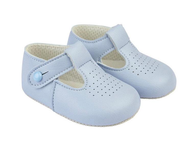 Unisex pram shoes - baby blue