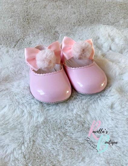 Girls pompom shoes - pink
