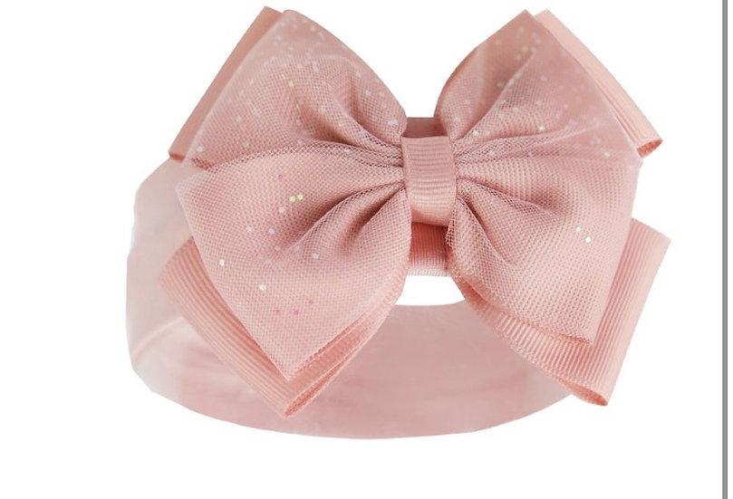 Dusky pink glitter headband